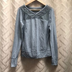 Lululemon long sleeve, mesh upper top